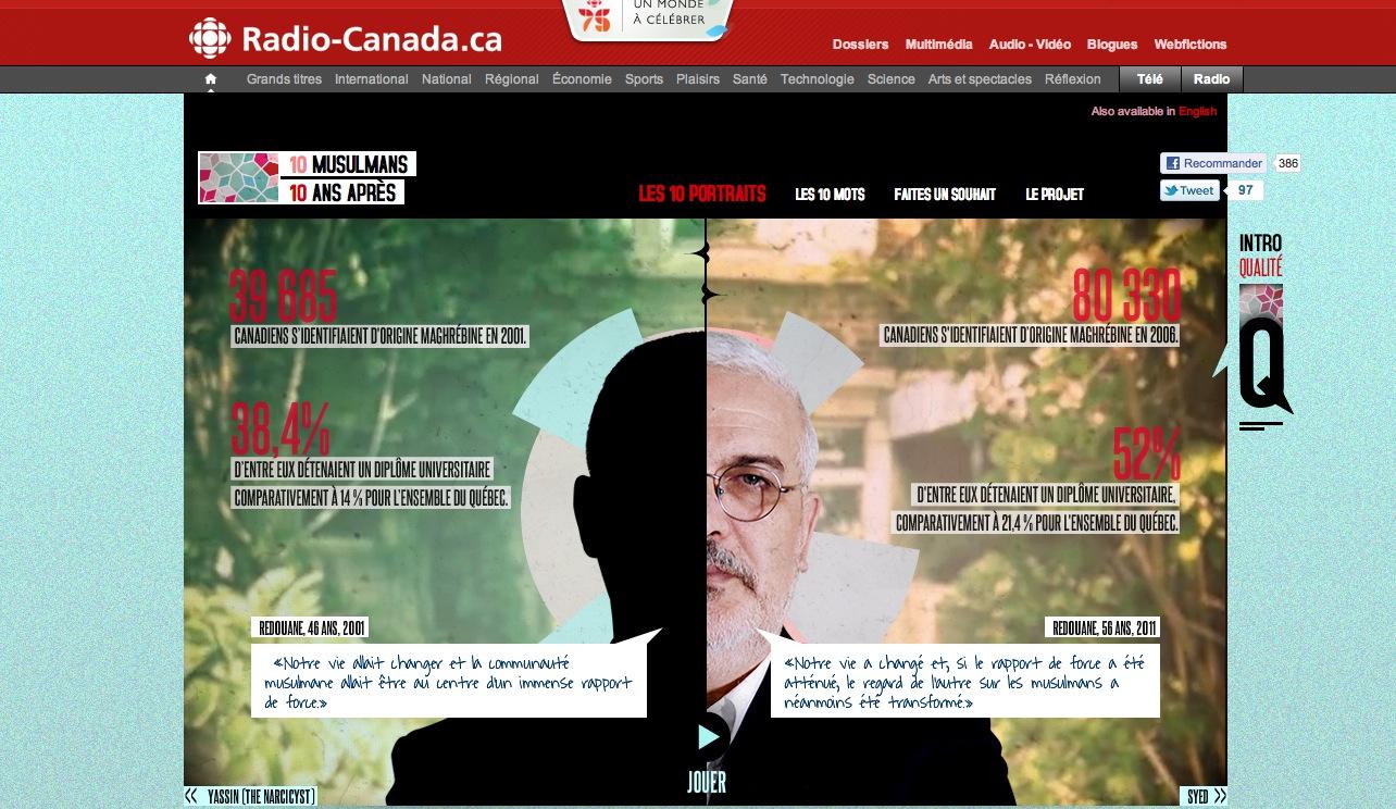 L'actu du webdocu #4 : 10 musulmans 10 ans après, New York 3.0, Autour de Saint-Tite, R97 La jeanne