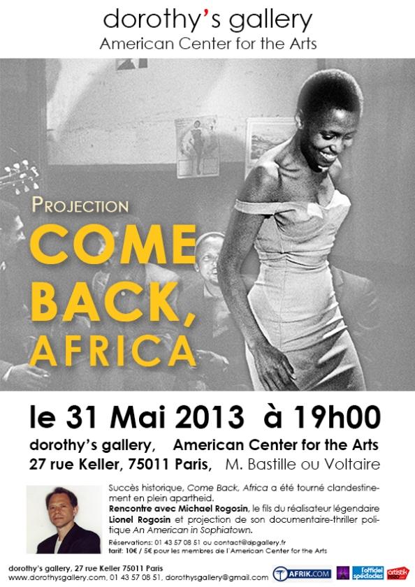 [Redif'] « Come Back, Africa », par Lionel Rogosin