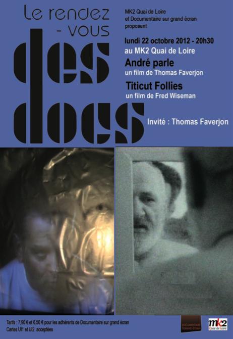 «Rendez-vous des docs» : Titicut Follies + André parle