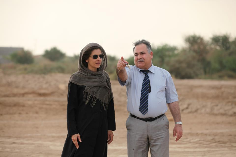 Anne Nivat, sur le tournage de son documentaire à Bagdad (2012) - Archives personnelles de l'auteur.