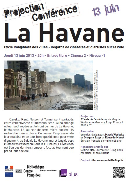 [Redif'] « El Sofa de la Habana » – Projection à Paris