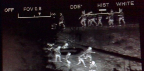 Traque nocturne - caméra de Frontex