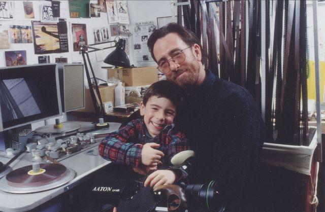 Ross McElwee, avec son fils.