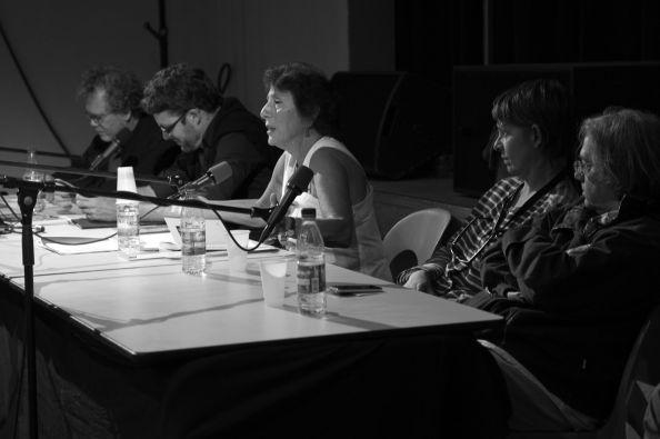 George Didi-Huberman, Emmanuel Alloa, Marie-José Mondzain, Bénédicte Liénard et Mary Jimenez -  © Ardèche Images